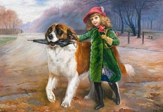 "Puzzle 1000 Charles Burton Barber ""Off to School"""